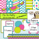 All-in-One Set: Oh So Puffy 3 {Digital Papers, Frames, Pag