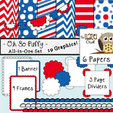 All-in-One Set: Oh So Puffy 8 {Digital Papers, Frames, Pag