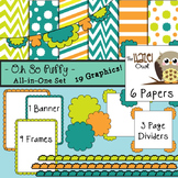 All-in-One Set: Oh So Puffy 1 {Digital Papers, Frames, Pag