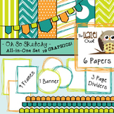 All-in-One Set: So Sketchy 1 {Digital Papers, Frames, Page