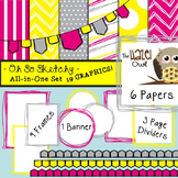 All-in-One Set: So Sketchy 2 {Digital Papers, Frames, Page