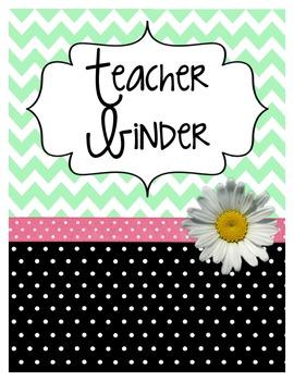 All in One Teacher Binder (Mint/Black)
