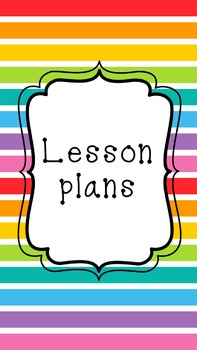 All in One -Teacher & Personal Planner in Rainbow Stripes with Binder Covers