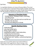 All in One Writer's Workshop Procedural Writing