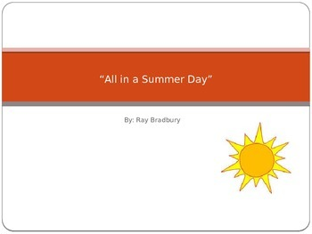 All Summer in a Day Powerpoint