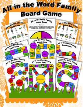 All in the Word Family Board Game