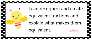 All language arts and math common core standards posters 3rd grade - cute bees