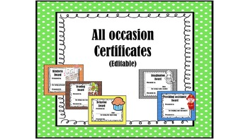 All occasion certificates 34! New product