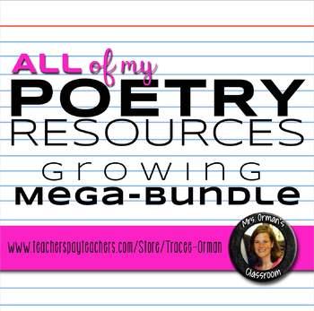 All of My Poetry Resources Mega Bundle
