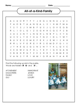 All-of-a-Kind-Family Word Search