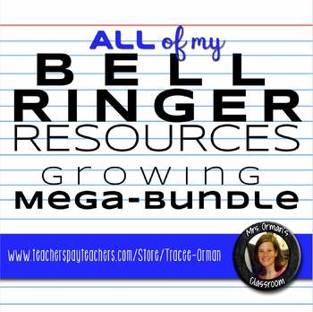 English Bell Ringer and Exit Slip Resources Growing Bundle