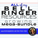 English Bell Ringer and Exit Slip Resources Mega Bundle
