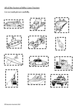 All of the Factors of Why I Love Tractors by Davina Bell - 6 Activities