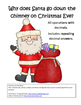 Santa Riddle Operations with Decimals