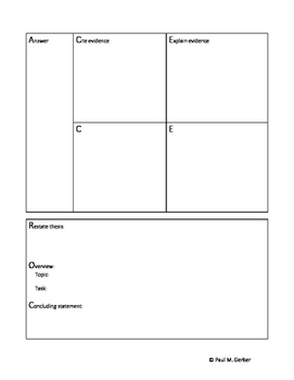All-purpose essay outline and rubric