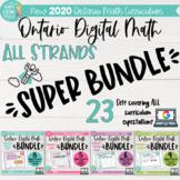 All strands DIGITAL SUPER BUNDLE! Grade 3 Ontario 2020 Math for Google Slides™