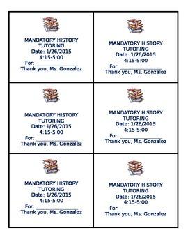 All subject Mandatory Tutoring pass