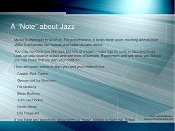 All that Jazz! Preschool music lesson activities