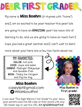 All the About the Teacher Editable Letter Templates