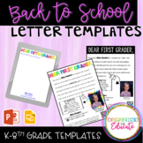 All the About the Teacher Letter Templates