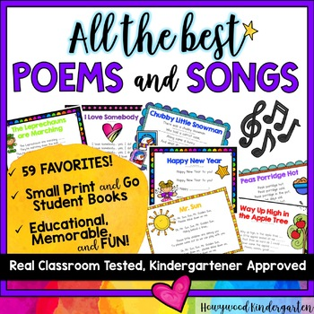 All the BEST Kindergarten Poems and Songs! A year's worth!