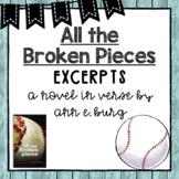 All the Broken Pieces | Excerpts | Novel Study
