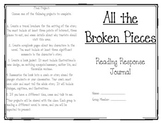 All the Broken Pieces Reading Response Journal