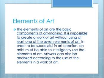 All The Elements! Art Unit