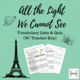 All the Light We Cannot See Vocabulary Lists and Quiz