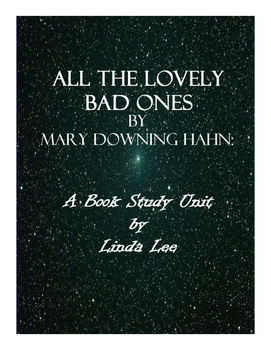 All the Lovely Bad Ones by Mary Downing Hahn:  A Book Study Unit