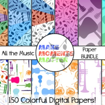 All the Music  --  A Digital Paper Bundle!