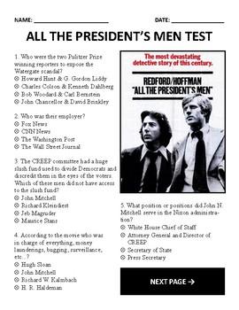 All the Presidents Men Test