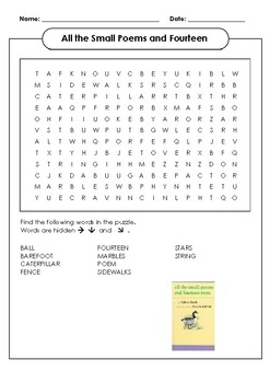 All the Small Poems and Fourteen Word Search