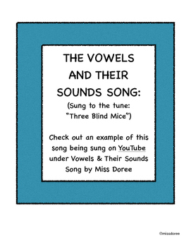 All the Sounds of the Vowels Song (Words and Visuals)