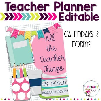 All the Teacher Things - Editable Teacher Planner