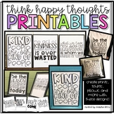 All the {Think Happy Thoughts} Printables