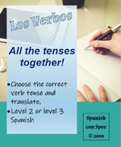 All the Verb Tenses Together - A Spanish Verb Review