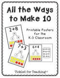 Making Ten: Posters Showing All the Ways to Add to Ten