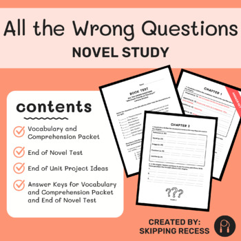 All the Wrong Questions:  Who Could That Be at This Hour?  Comprehension Packet