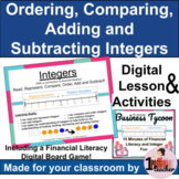 All things Integers   Digital Math Lesson and Activities