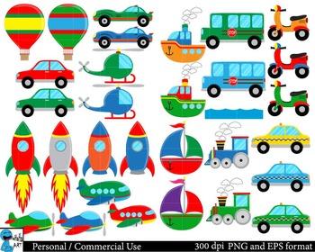All transportation Set Clipart Digital Clip Art Graphics 47 images cod94