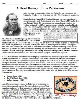 Allan Pinkerton Biography / History of Pinkerton Detective Agency