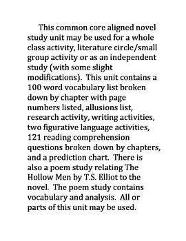 Allegiant Novel Study