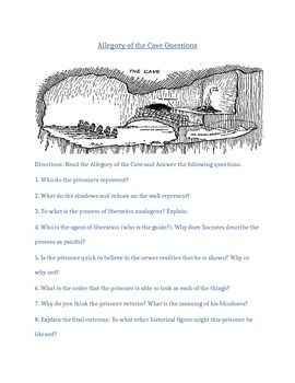 Allegory of the Cave Reading Questions