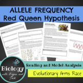 Allele frequency and Evolutionary Arms Race: The Red Queen