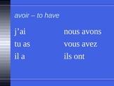 Aller Avoir Être Faire French Verbs PowerPoint