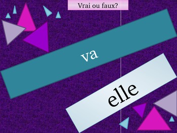 Aller Avoir Être Faire Venir French verbs review game
