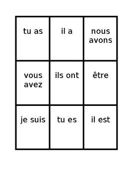 Aller Avoir Être Faire Venir  in present tense Spoons game / Uno game