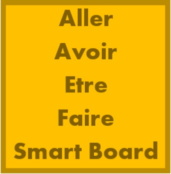 Aller Avoir Être Faire activities for Smartboard