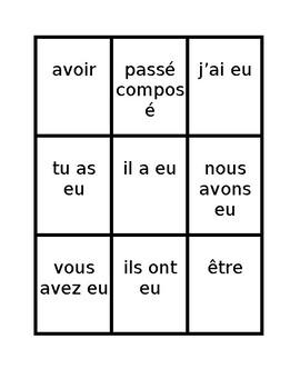 Aller Avoir Être Faire multi tense Spoons game / Uno game
